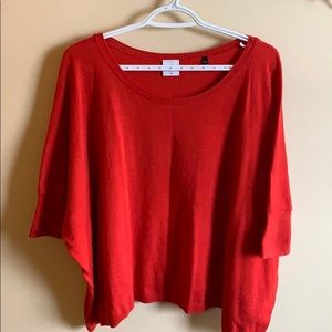 Cabi pullover red sweater top.